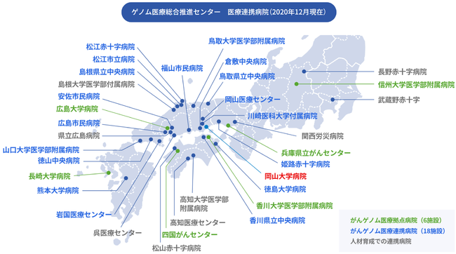 中国四国地域を中心に幅広い岡山大学ネットワークでゲノム医療を推進する