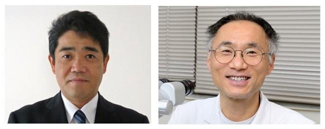 内田哲也准教授と松尾俊彦教授(右)