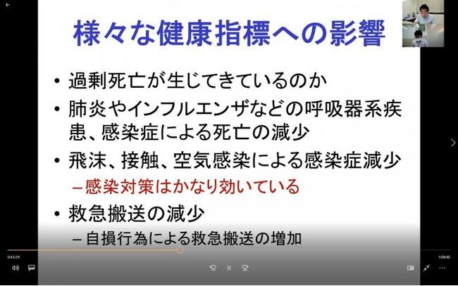 第1部の賴藤貴志教授のオンライン講演の様子
