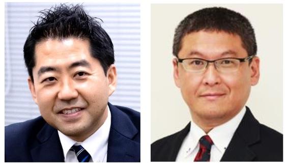 今回のサイエンスカフェで講師を務めた頼藤貴志教授と神田秀幸教授(右)