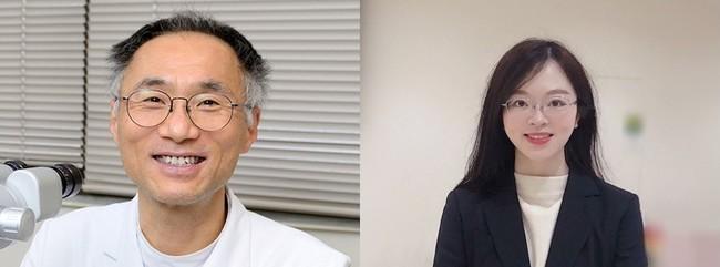 松尾俊彦教授と劉詩卉研究員(右)