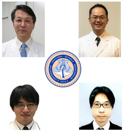 (左上から時計回りに)阿部康二教授、山下徹准教授、森原隆太助教、田所功医員