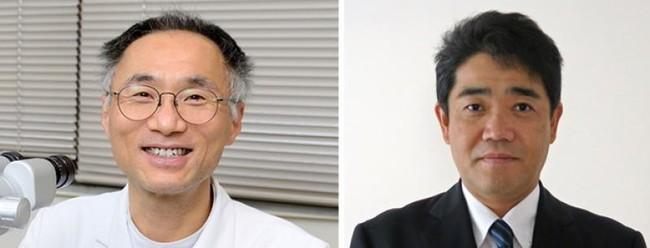 松尾俊彦教授と内田哲也准教授(右)