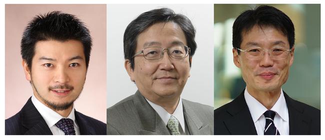 (登壇順に左より)冨田秀太准教授、那須保友理事・副学長、平沢晃教授