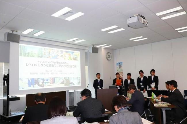 商品企画プロジェクト。日本旅行本社での最終発表の様子(2020年2月)