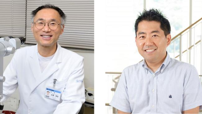 松尾俊彦教授と頼藤貴志教授(右)