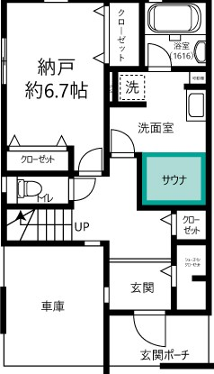 西東京市PJ A棟1階平面図