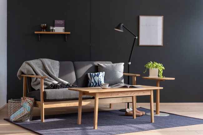 LIM Sofa & Center Table 北海道産ミズナラ