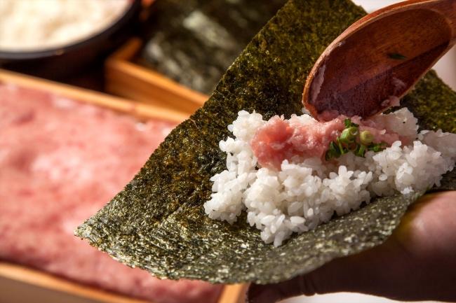 ネギトロ手巻き寿司