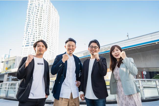 左からリード投資家ANOBAKA萩谷氏、HANOWA社新井、南部、ANOBAKA社槙原氏