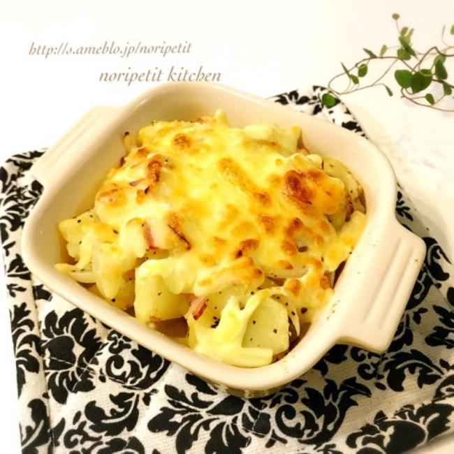 レンチンde簡単・時短♡ジャーマンポテトのチーズ焼き(noripetit(のりP)さん)