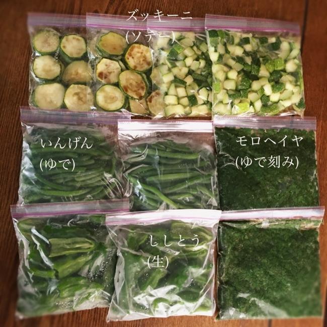 夏野菜の冷凍保存(kaz.pyonさん)