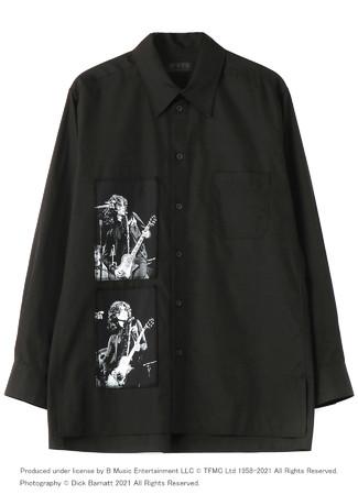 マーキー・クラブ(R)に出演した頃のLED ZEPPELINのメンバー・フォト、ライブ・フライヤーを組み合わせたシャツ(フロント)