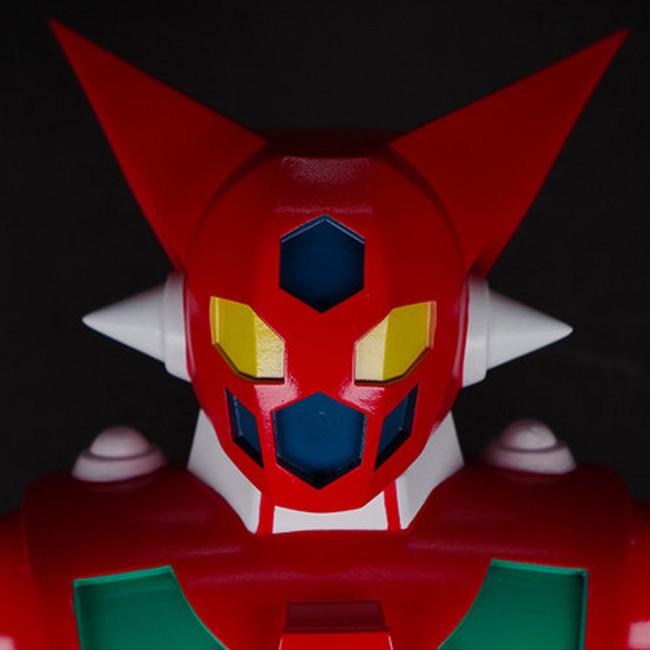香港の人気メーカー「PLANET X」の新造形、真紅に燃える「ゲッター1」が墓場の画廊のゲッターロボ展に期間限定受注で登場!!