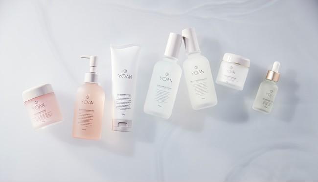 左から、クレンジングバーム、クレンジングジェル、洗顔、化粧水、美容乳液、クリーム、オイル