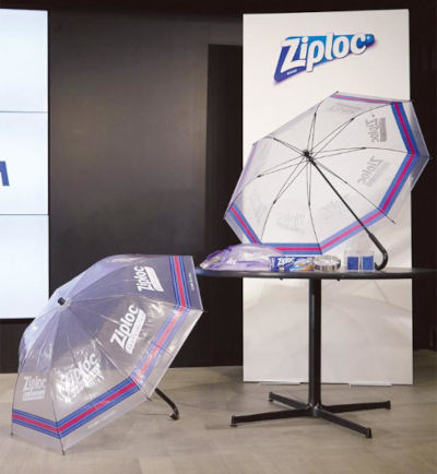 ジップロック®再生傘を活用