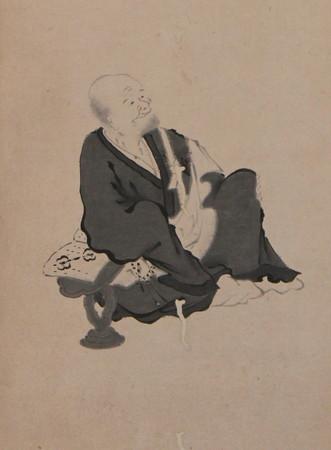 「松花堂昭乗自画像写」(部分)(松花堂美術館蔵)