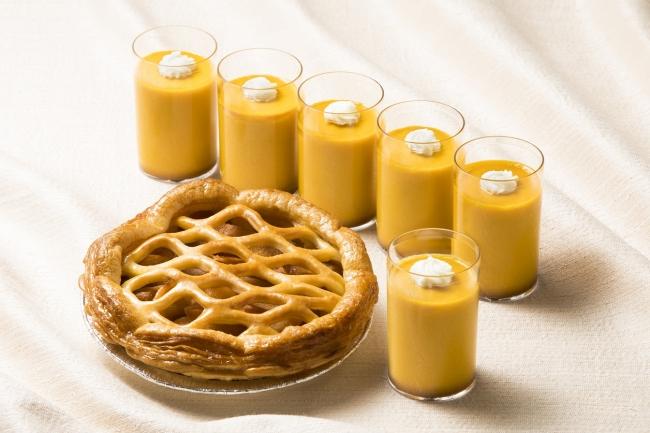アップルパイとかぼちゃプリン