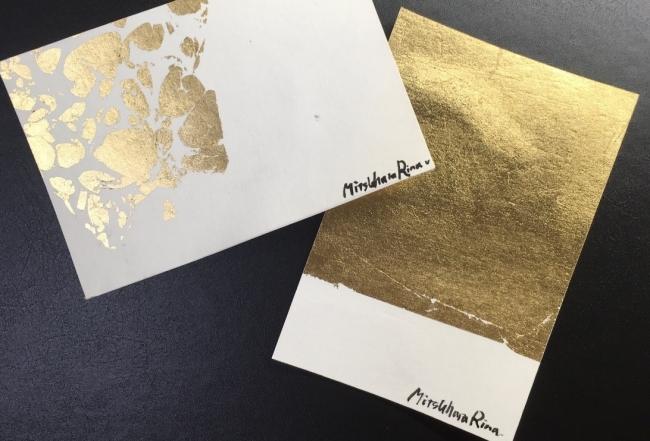金箔を使用したインテリアボード、ポストカード (イメージ)
