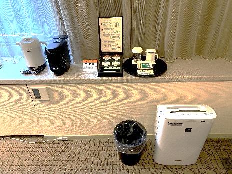 加湿空気清浄機、コーヒーメーカー