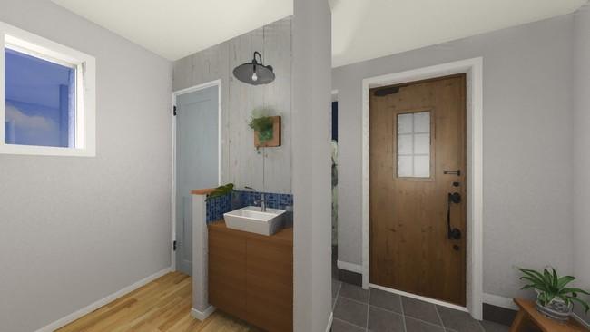 手洗い習慣が自然と身に付く玄関手洗い