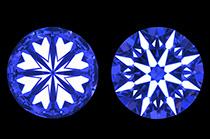 小さなメレダイヤモンドまで「ハート&キューピッド」が現れるダイヤモンドを使用しています。