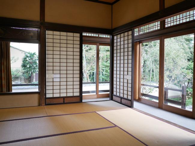 東京都東久留米市浄牧院の茶室。300年以上の歴史がある