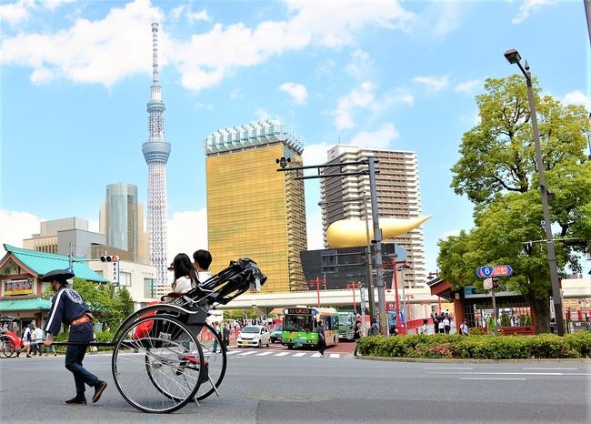 人力車と浅草風景
