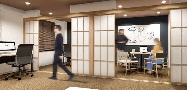 室内イメージパース(Eタイプ 6名個室)