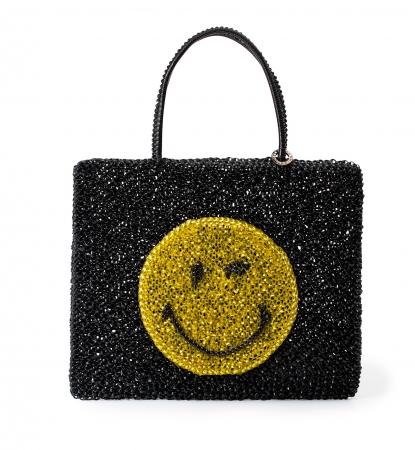 SMILEY(スマイリー) PB19SGJ0Z3 W32 cm x H27cm 60,000円(税抜き) エナメルブラック×マスタードイエロー