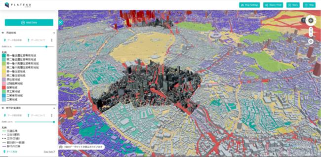 """「都市をデジタル化する」Project """"PLATEAU""""、3D都市モデルを活用したユースケース続々発表"""