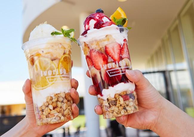 Ivorishの看板メニュー『ベリーデラックス』と、暑い季節にさっぱり『ハニーレモン』のフレンチトーストパフェ、どちらがお好み?