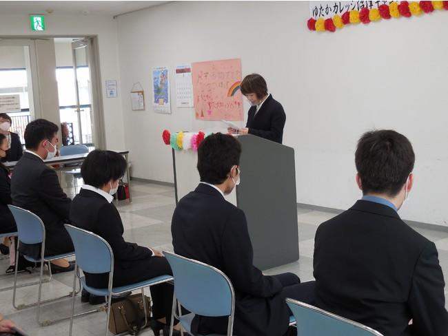 ゆたかカレッジ沼津キャンパスで長谷川美栄副学長より式辞