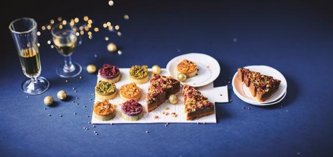 「ジャガイモとサツマイモの3色クリスマスボール」「マロンとバターナッツカボチャのツリー」