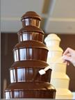 ティータイム交流会では、チョコレートファウンテンも!