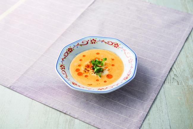 フムスでごま坦々風スープ