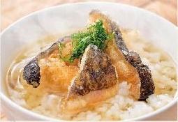 【ウツボの土佐茶漬け】「海のギャング」とも称されるウツボは、高知ではかつおと並ぶ代表的な食材です。