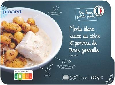 白身魚のシードルソースとジャガイモのロースト