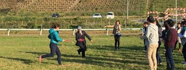 ミニ運動会には南相馬市・桜井市長も飛び入り参加