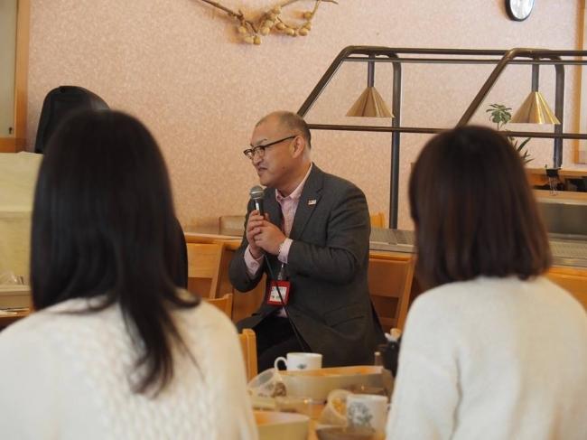 ミライカレッジ仙北 仙北市・門脇市長がツアー参加者を激励
