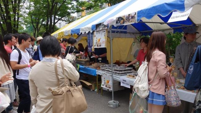 5月開催の「あがいんちゃ東北」風景~東北の食材を使ったブース