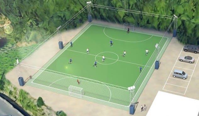 日本初のサッカー専用グラウンド(福岡)