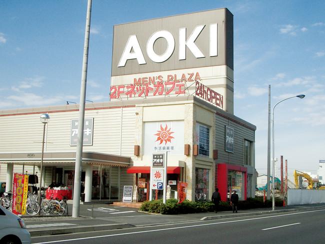 快活CLUB第1号店(14号幕張西店) AOKI店舗の遊休スペースを活用して出店