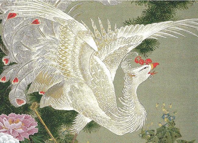 若冲鳳凰(袋帯)