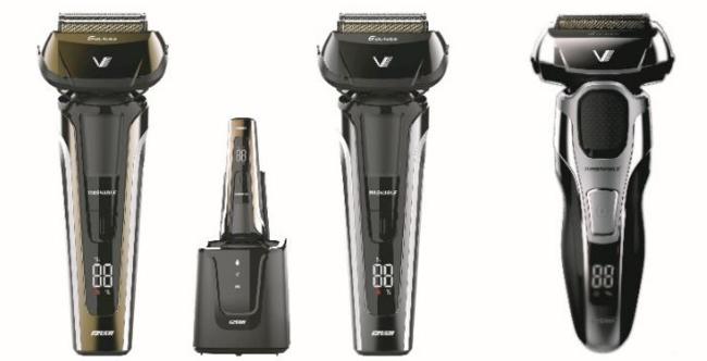 左からIZF-V991-N(6枚刃、洗浄器付き)、IZF-V951-H(6枚刃)、IZF-V931-S(4枚刃)