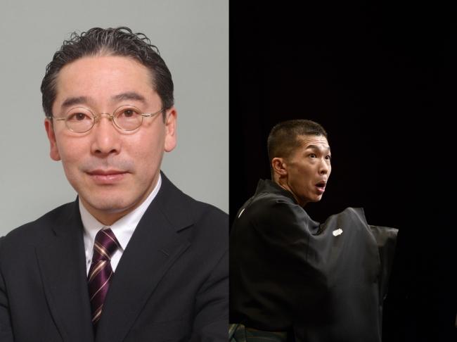 (左)山口謠司(右)柳家三三
