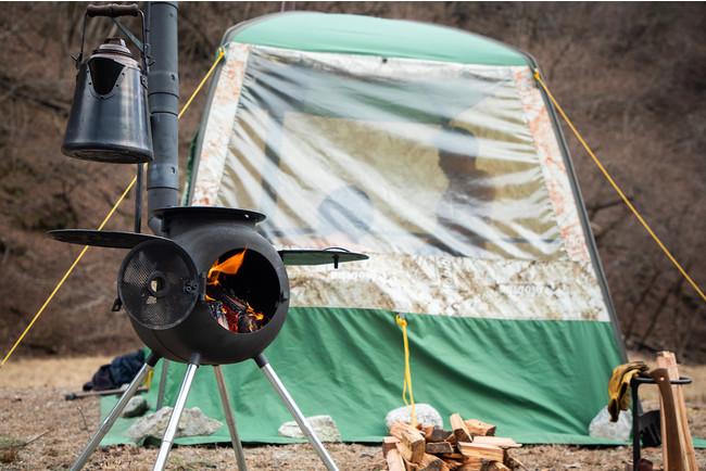 レンタル用のテントサウナはMobiba MB10A。春から既に一番人気のアイテム。
