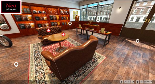 1Fショップ内の雰囲気にぴったりな鎌倉アンティークスの家具などを紹介。