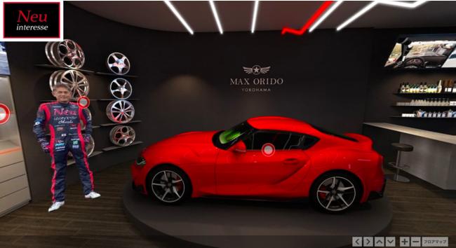 2F奥では、レーシングドライバーの織戸学選手の愛車の紹介もされております。