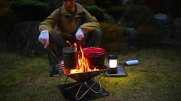 重たい鍋を置いても安定感抜群
